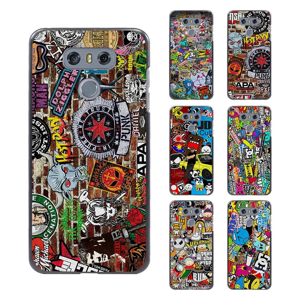 Design poster k3 - Hot Sale Sticker Bomb Design Hard Black Case For Lg G6 G5 G4 G3 V20 V10