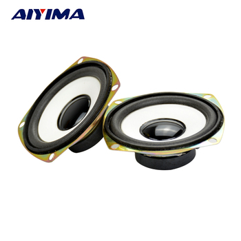 AIYIMA 2Pcs 3Inch Audio Porble Speaker 4Ohm 5W DIY External Magnetic HiFi Full Range Speaker Horn Stereo Woofer Loudspeaker 2 pcs 35mm 75mm audio speaker woofer loudspeaker dome pp dust cap cone cover
