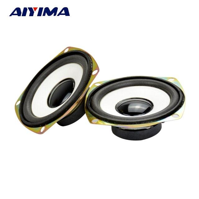 Altavoz de Audio AIYIMA 2 piezas 3 pulgadas 4Ohm 5 W DIY externo magnético HiFi de gama completa woofer altavoz