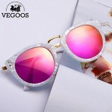 VEGOOS 2016 New Polarized Women Round Sunglasses Brand Designer Fashion Retro Cat Eye Polaroid Sun Glasses  #6113