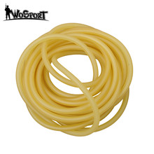 Natural Latex Slingshots Rubber Tube 1M for Outdoor Hunting Shooting High Elastic Tubing Band Tactical Catapult Bow Accessories(China)