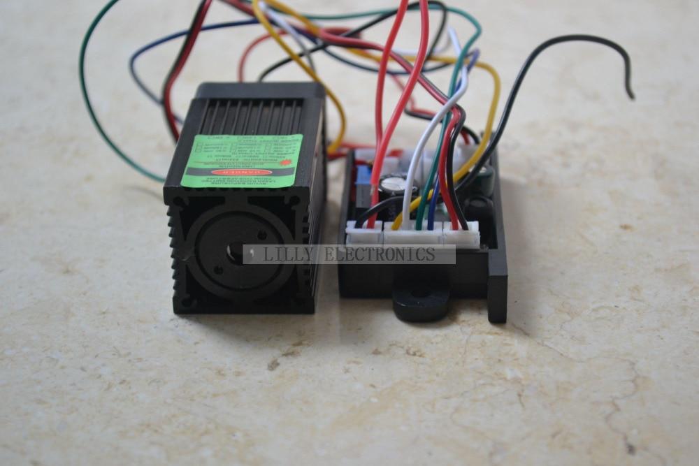 ФОТО 12V 532nm 100mw Green Laser Dot Module Fan Cooling TTL 0-30KHZ-Long time working