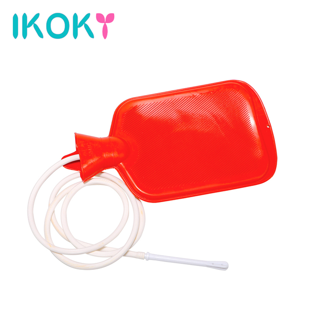 IKOKY Anal Sex Toys for Couples Gay Large Porous Enema Water Bag Intestinal Anal Cleaner Shower Adult Product Vaginal Washing