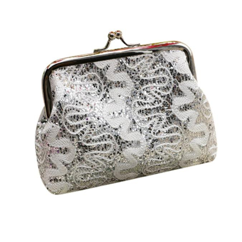 2016 Hot Sale Women Ladies Small Sequin Wallet Card Holder Coin Purse Fashion Party Clutch Girls Handbag Bag  hot sale 2016 new fashion women girls winter warm wallet high quality tote bag card pack small hairy bag handbag