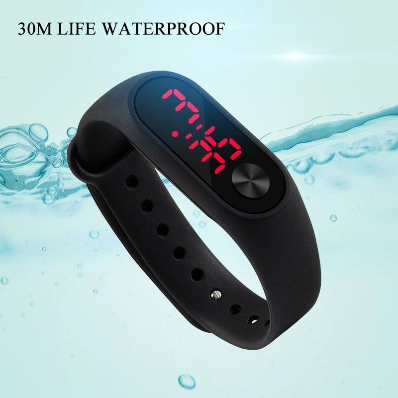 Sport Women Men Watches Led Display Leisure Hour Silicone Watch Bracelet Kid Children Wristwatch Digital Watch Clock Reloj Mujer