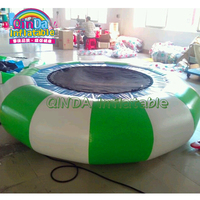 Outside pool kids N adults airtight inflatable water floating trampoline for sale