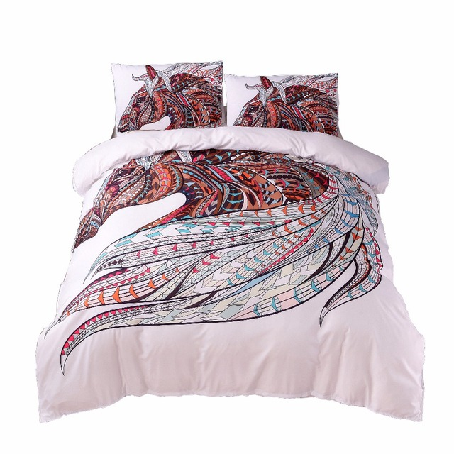 3d Horse Bedding Sets Comforter Quilt Duvet Cover Set Bedspreads Us