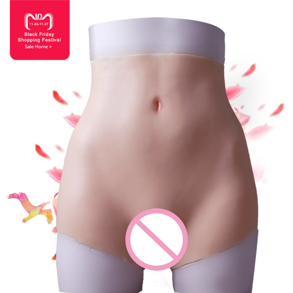 New increase hips boxer Silicone vagina for crossdresser Fake Ass Buttocks enhancer Shaper Hip Up for