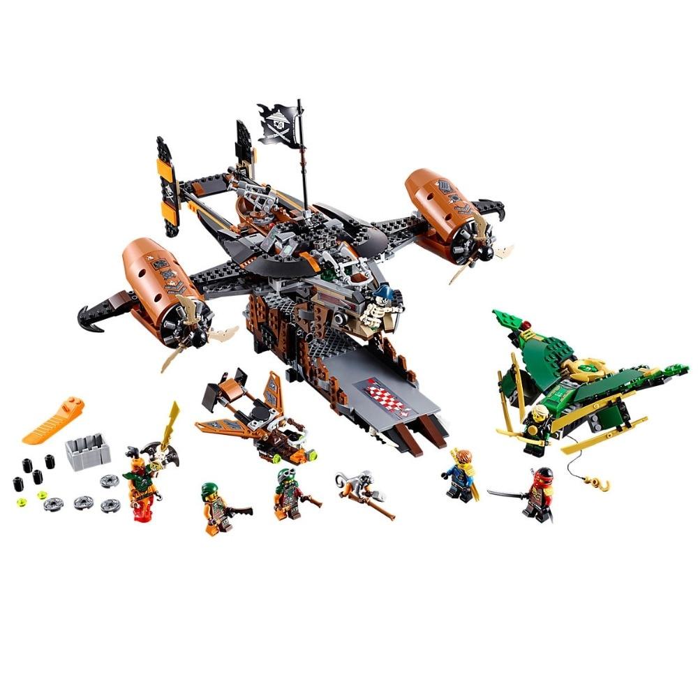 Image 5 - Ninjagoe Kit 70605 757pcs Building Blocks Compatible Legoe toys for Childrens Bricks Model Boy Gift Misfortune's Keep-in Blocks from Toys & Hobbies