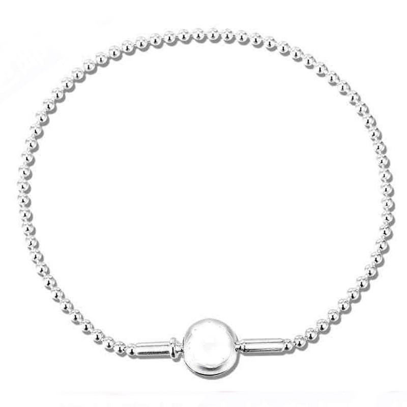 New 925 Sterling Silver Bracelet ESSENCE COLLECTION Beaded Bracelet Bangle Fit Women Bead Charm DIY Europe Jewelry