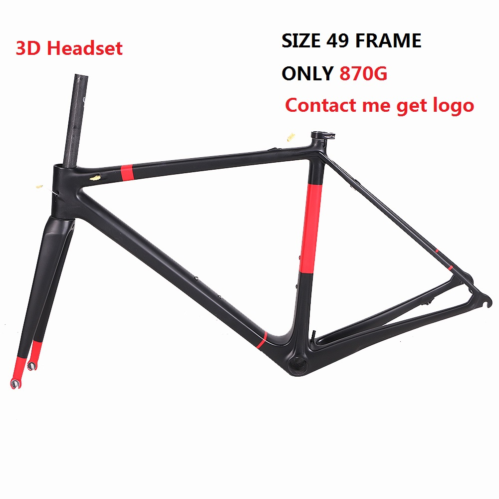 2017 Boraman Team Use Frameset Gallium Pro Tour De France Light Weight Carbon Road Bike Frame Seat Post Fork Headset Clamp