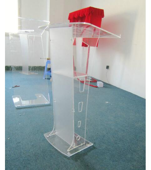 Free Shipping Acrylic Church Pulpit /innovative Lectern /Shatterproof Podium For Church Logo Customize