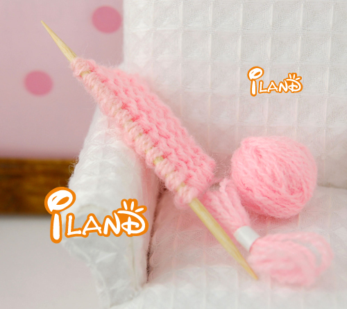 iland Mother'S Woolen Knitting Home Work Pink Sweator1:12 Dollhouse HS006B