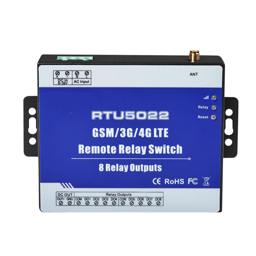 Modbus RTU GSM Remote Timer Switch for Agricultural Irrigation water pump control SMS APP Operating 8 Relay Outputs
