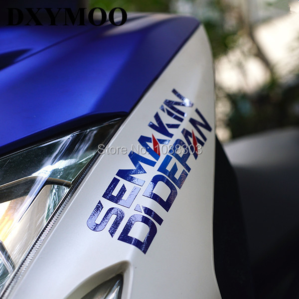 Motogp motorcycle helmet car window tail sticker decals for yamaha sponsor semakin didepan in decals stickers from automobiles motorcycles on