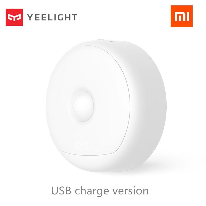 (Carga USB) Xiaomi Mijia Yeelight LED luz nocturna infrarroja magnética con ganchos Sensor de movimiento corporal remoto para Xiaomi Smart Home