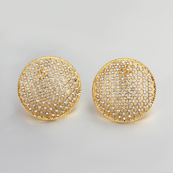 gold earrings additional stud round studs