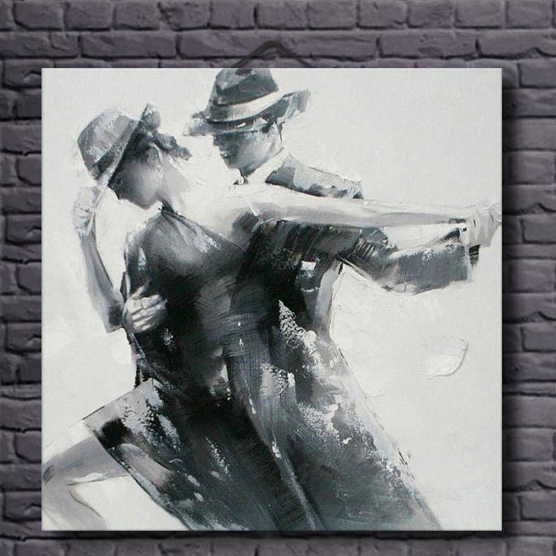 Obrázek na plátně Malování na zeď pro dekorace do obývacího pokoje Ručně malované Olejomalba Nástěnné umění Bez rámečku Cuadros Decoracion