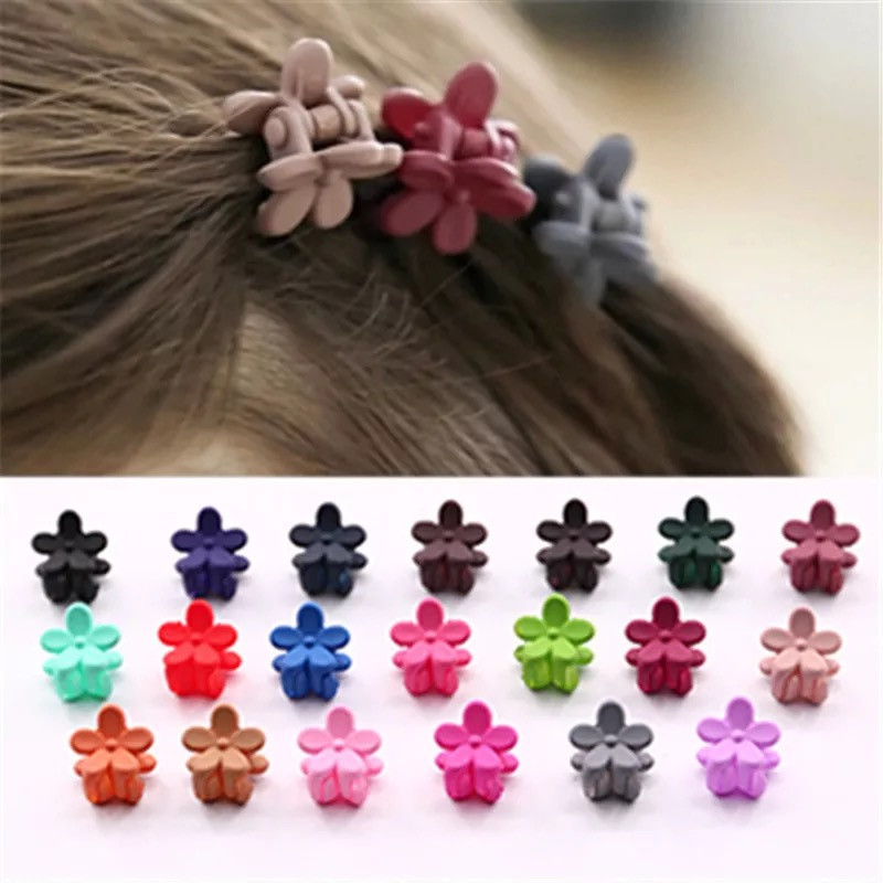 2016 New Limited Floral Fashion Mini Hair Claw Flower Hairclip Random Color Clips For Princess Girls Accessories 10 Pcs