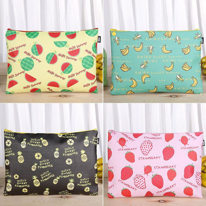 Fruit File Bag Pencil Case File Folder Documents Filling Bag Office School Suppllies Stationery Bag