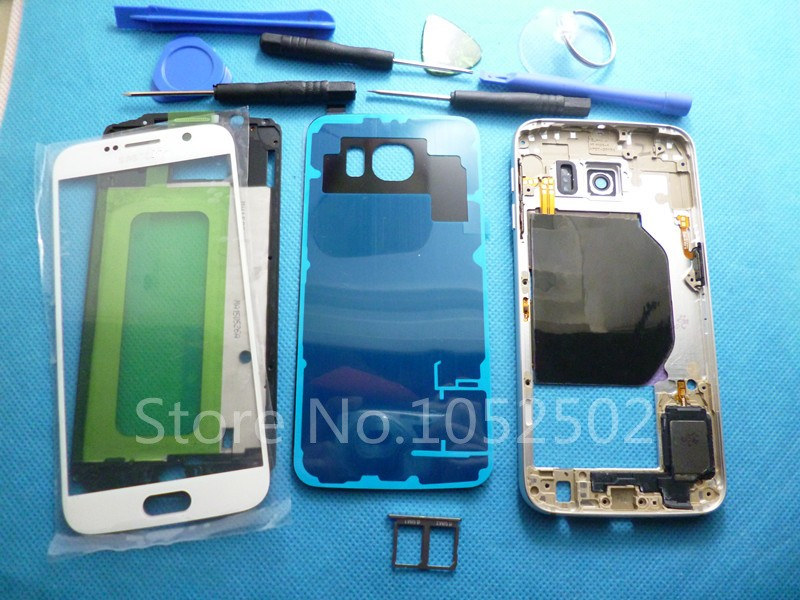 Dual-Card-Full-Housing-Case-Middle-Frame-Battery-Cover-Original-For-Samsung-Galaxy-S6-G9200-G920