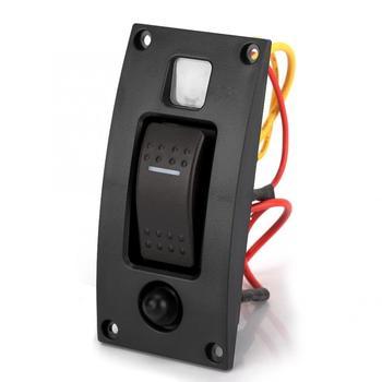 Encendido-apagado 12/24 V 1 Barco de banda LED marino balancín bomba de sentina Panel de interruptor con circuito de reinicio interruptor araba aksesuar