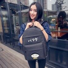 Чи-би Maruko симпатичный персонаж из мультфильма печать на холсте рюкзак свежий конфеты цвет школьный для девочки-подростка случайный рюкзак женщин