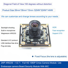 2MP AR0230(1/2.7) Full HD 1080P Cmos Camera Module 1920*1080 Full HD Usb endoscope camera Board Security Module недорого