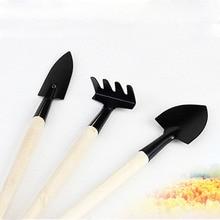 1 компл. Мини маленькая лопата грабли лопата деревянная ручка металлическая головка дети ролевые инструменты игрушки