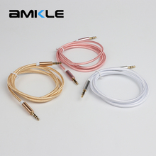 Amkle 3.5 mm Jack Audio Cable 3.5mm Male to Male AUX Cable for iPhone 6 6S Car MP3 MP4 Headphone Speaker AUX Cable