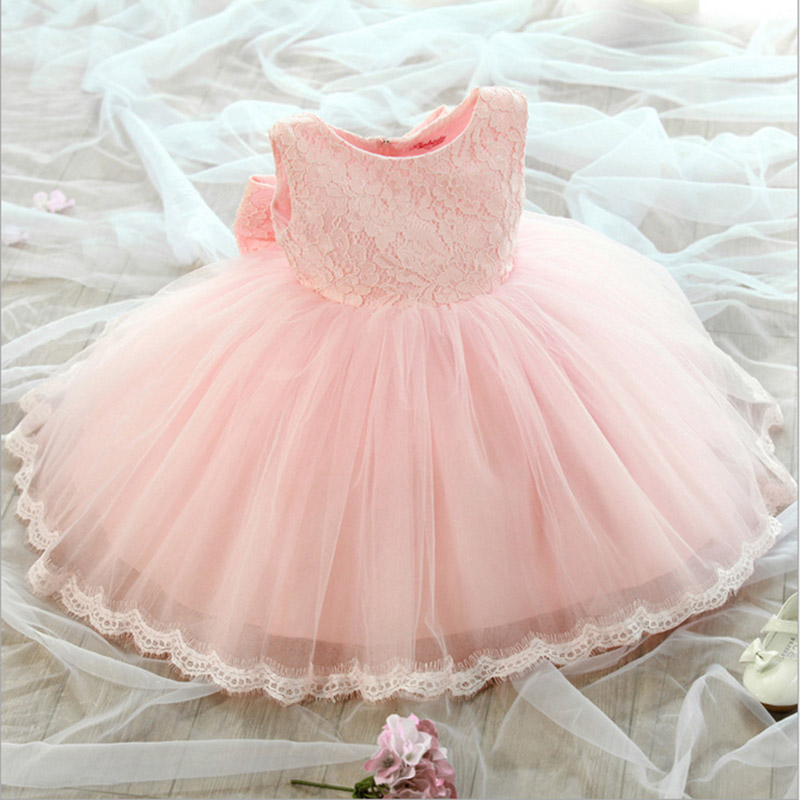 2017 girls summer Flower girl dress princess children's wedding dress Infant Girls Fancy Party Dresses For Kids Children Clothes цена и фото