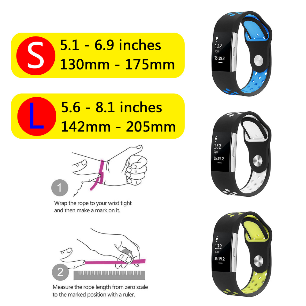 For Fitbit Charge 2 Bands Silicone Replacement Strap For Fitbit Charge 2 Bracelet Smart Wristbands Wearable Devices Accessories 3