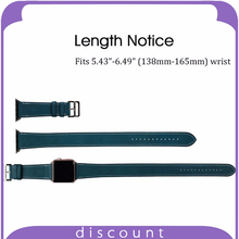 38mm 42mm double tour Blue Genuine Leather Watch Band for Apple Smart Watch Strap Bracelet Replacement Band With Adapter Clasp