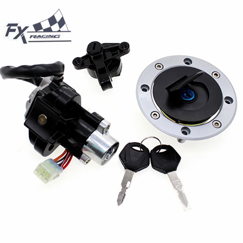 12V Motorcycle Ignition Switch Gas Cap Fuel Tank Cover Seat Lock key Set For Suzuki Bandit GSF600 GSF 600 1996 - 1999 1997 1998 crash bar mt 09