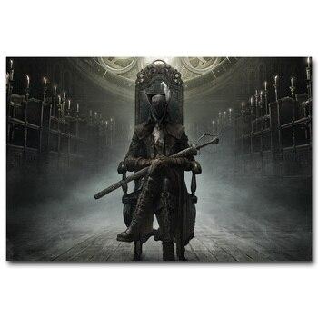 Шелковый Плакат Гобелен Игра Bloodborne Вариант 7