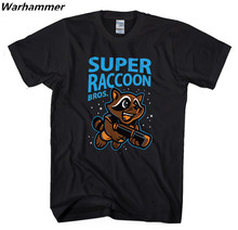 Marvel's Super Raccoon Bros Men T shirt Guardians Of The Galaxy Summer Cotton Tee Shirt Homme O-neck Short Sleeve Groot T Shirts