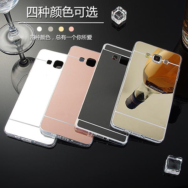 sneakers for cheap de53a 9baae US $1.85 10% OFF|New Ultra Slim Silver Rose Gold Soft TPU Mirror Case For  Samsung galaxy A7 2015 A7000 Protective Back Cover-in Half-wrapped Case  from ...