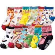 5 pairs/новый смешивания детские носки детские мальчики и девочки в возрасте 0-3 лет ребенок носки нескользящей носки
