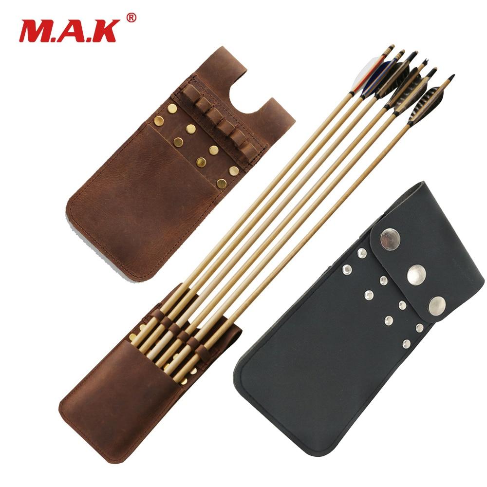 22*10*1 cm 3 Farbe Tasche Köcher 6 paket Leder Köcher Geeignet für Recurve Bogen Verbindung Bogen für Bogenschießen Jagd Schießen