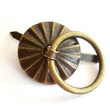 50pcs 1.9cm Antique Bronze Metal Handle Small Wholesale Little Tin Drawer Casket Wooden Box Case Door Fix Factory Direct Sale