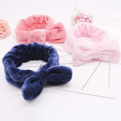 Коралловый флис Hairbow крест оголовье для смывание макияжа с лица Леди для ванной Маска Косметический Hairband эластичные мягкие Аксессуары для