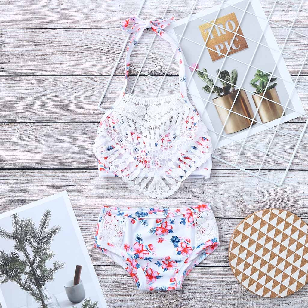 2019 Szyadeou Summer Kids Kids Girls Print Bikini Beach Sling Swimwear Swimwear Shorts Swimsuit Set Kids Swimwear For Girls F1 Moderate Price