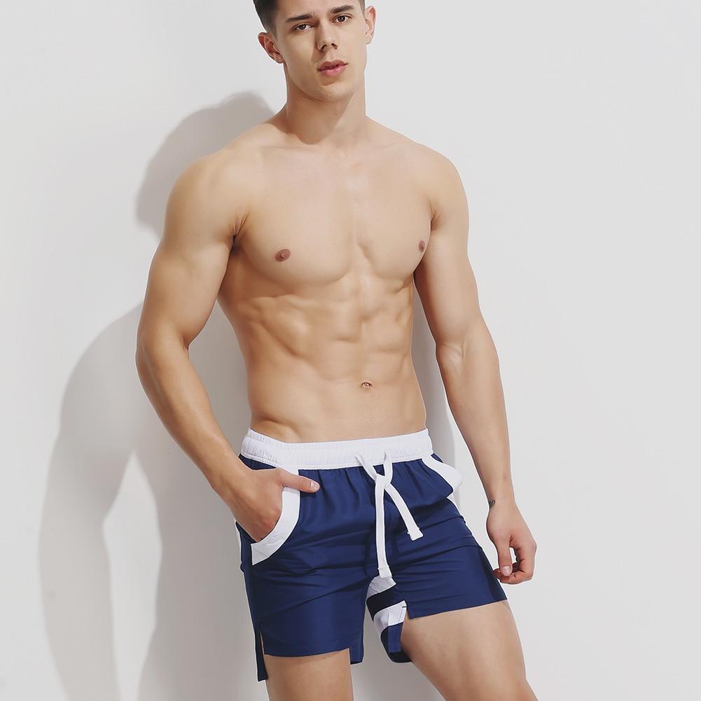 2018 Hot Summer Cool Man Board Shorts Fashion Breathable Men Beach Shorts Loose Casual Beach Boxer Hot Guy Short Pants Gailang