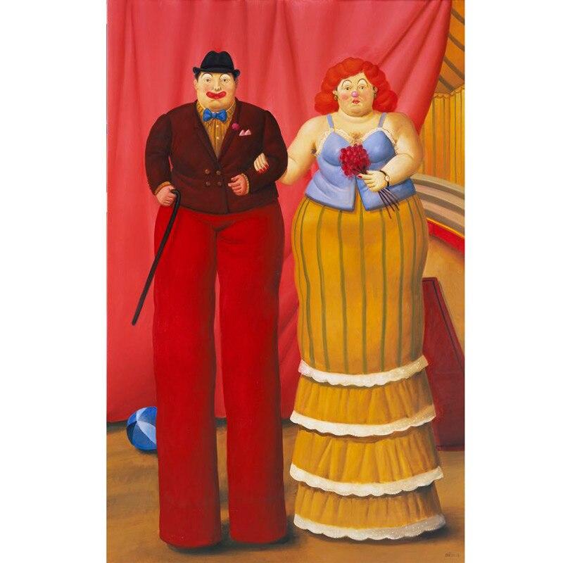 Handmade Fernando Botero fett frau ölgemälde kunst auf leinwand wand für wohnzimmer art Home Dekoration - 2