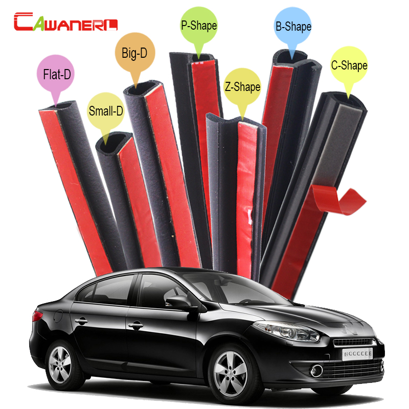 Cawanerl Whole Car Rubber Sealing Strip Kit Weatherstrip Seal Edge Trim For Renault Fluence Laguna Megane Talisman Latitude for renault fluence latitude talisman laguna wear resisting waterproof leather car seat covers front