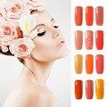 8 мл Orange Серии Цвет Светодиодная Лампа UV Гель Отделка Ногтей Акрил порошок Жидкость Для Ногтей Гель Лаки Лак для ногтей Снимите Жидкость Ленты