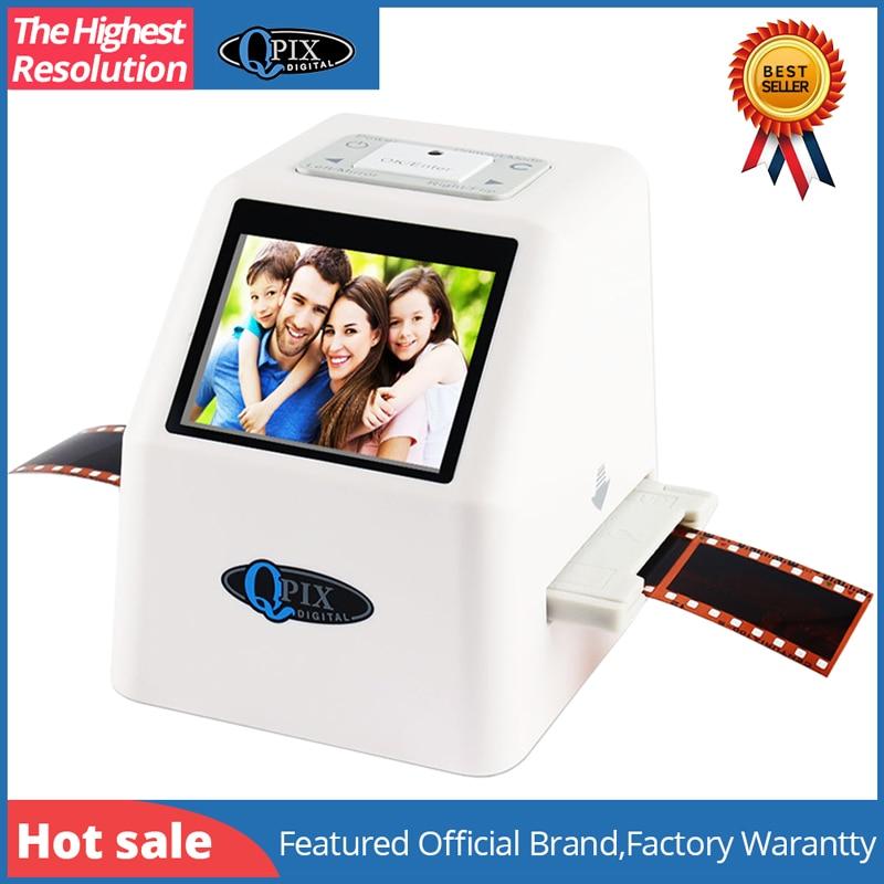 De alta resolución 22 MP 110 135 126KPK Super 8 negativo escáner de diapositivas de 35mm escáner de película de cine Digital convertidor 2,4 LCD
