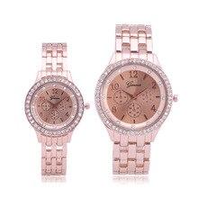 Унисекс популярные поддельные три глаза Мода горный хрусталь аналоговый циферблат наручные Для мужчин и Для женщин Любители Кварцевые часы пару часов Relogio