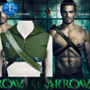 2015 Green Arrow Cosplay Costume Superhero Oliver Queen Hoodies And Quiver Set Halloween Costume For Adult
