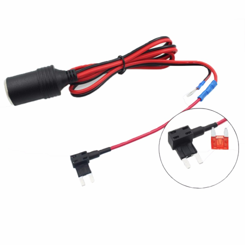 1SET 1.5MM Cigarette Lighter Female Socket with 1M Cable + Car Take Electrical Appliances Fuse Box Holder for Small Auto Fuse